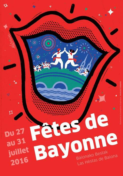 Affiche #2 des fêtes de Bayonne 2016