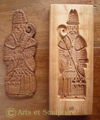 copie de moule à spéculoos ancien, Saint Nicolas - Arts et Sculpture: sculpteur, artisan d'art