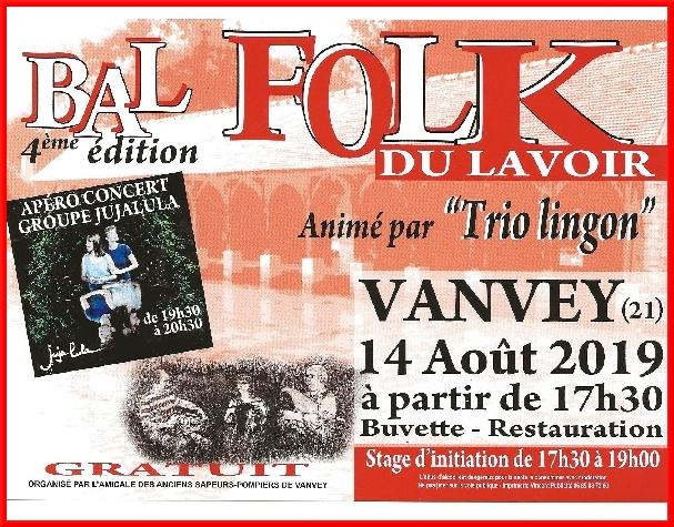 Un bal folk animé par le trio Lingon, aura lieu le 14 août à Vanvey...