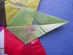 Etoile papier cristal