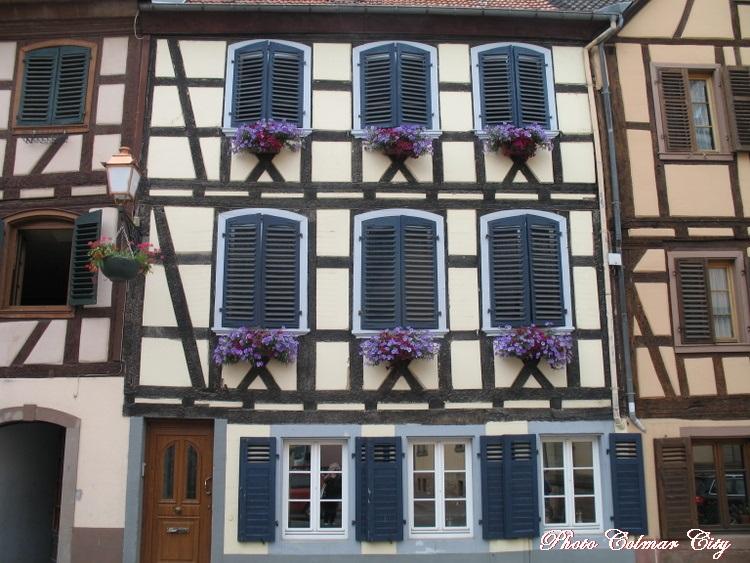 Bouxwiller(67) : Colombage et belles fenêtres