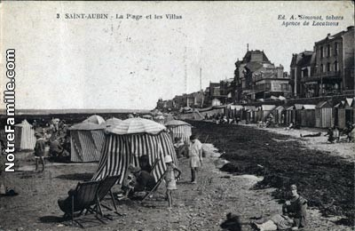 cartes-postales-photos-La-Plage-et-les-Villas-ST-AUBIN-SUR-