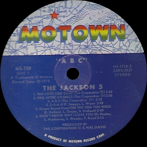 "The Jackson 5 : Album "" ABC "" Motown Records MS-709 [ US ]"
