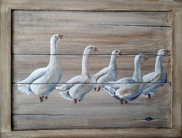 les travaux d'élèves de février et mars en peinture