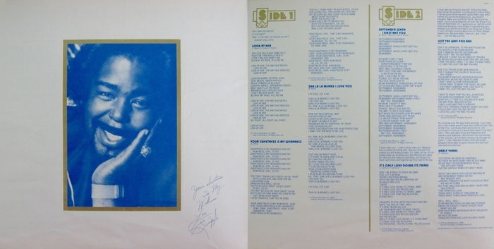 "Barry White : Album "" Barry White The Man "" 20th Century Fox Records T-571 [ US ]"