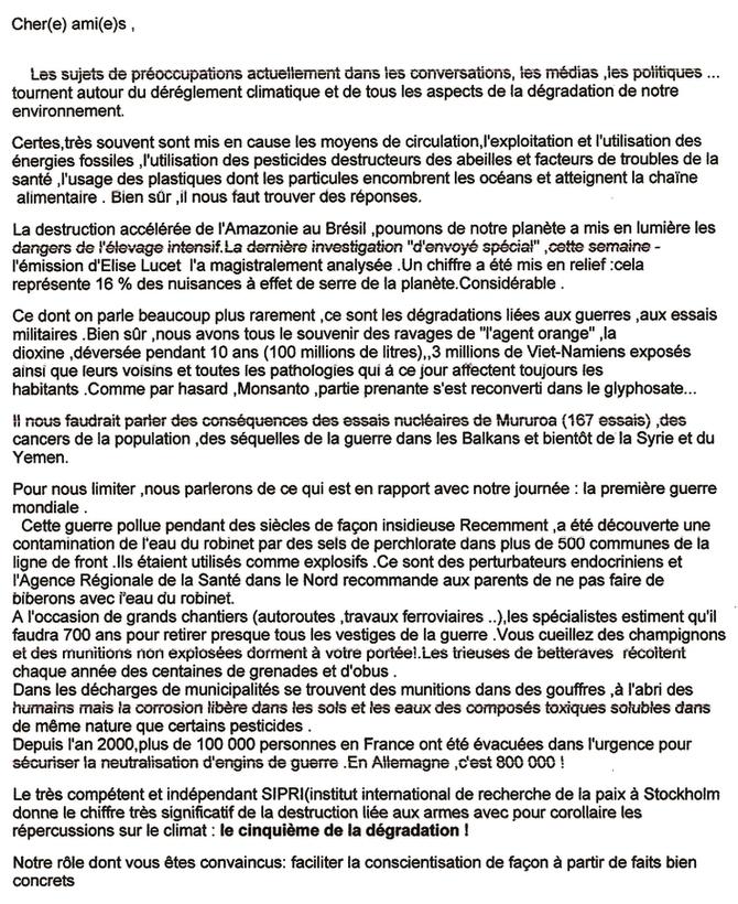Château-Arnoux : un 11 Novembre Pacifiste!