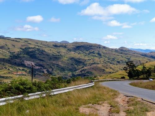 la traversée du Swaziland; de beaux paysages;