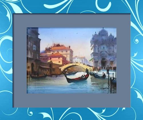 Dessin et peinture - vidéo 234 : Le paysage urbain - balade dans Venise.