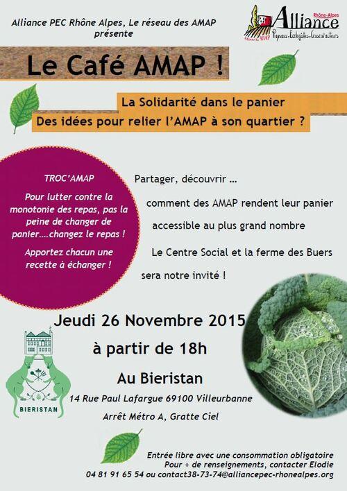 Le Café AMAP débarque à Villeurbanne !