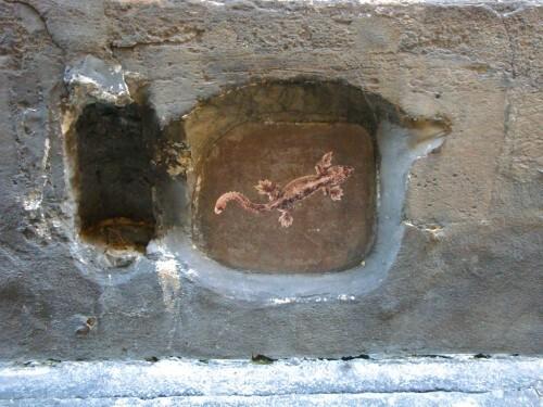 bestiaire lézard Street-art Beaubourg