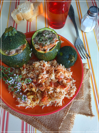 COURGETTES FARCIES AU COOKEO