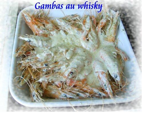 Gambas au whisky