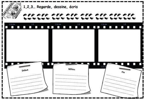 1,2,3... regarde, dessine, écris, compréhension, vidéo, cp, ce1, ce2, cm1, cm2, dixmois