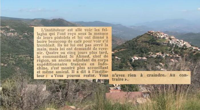 Ce documentaire relate l'histoire   de Jean-Louis Meynardie, un conscrit de l'armée française mobilisé   durant la guerre d'Algérie