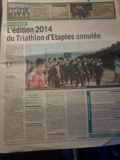 Pas de triathlon à Etaples en 2014 !