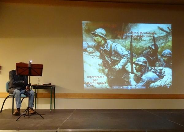 """""""Le chant du poilu"""", une très émouvante conférence musicale a été proposée par la Bibliothèque Municipale de Châtillon sur Seine"""