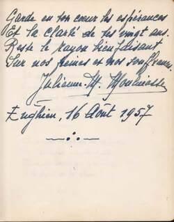 Poème inédit 16.8.1957