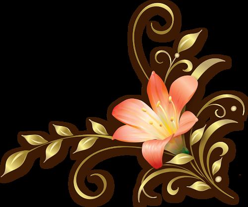 Eléments Vectoriels (fleuris) Série 19