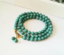 - Turquoise - Rangs simples et pendentifs