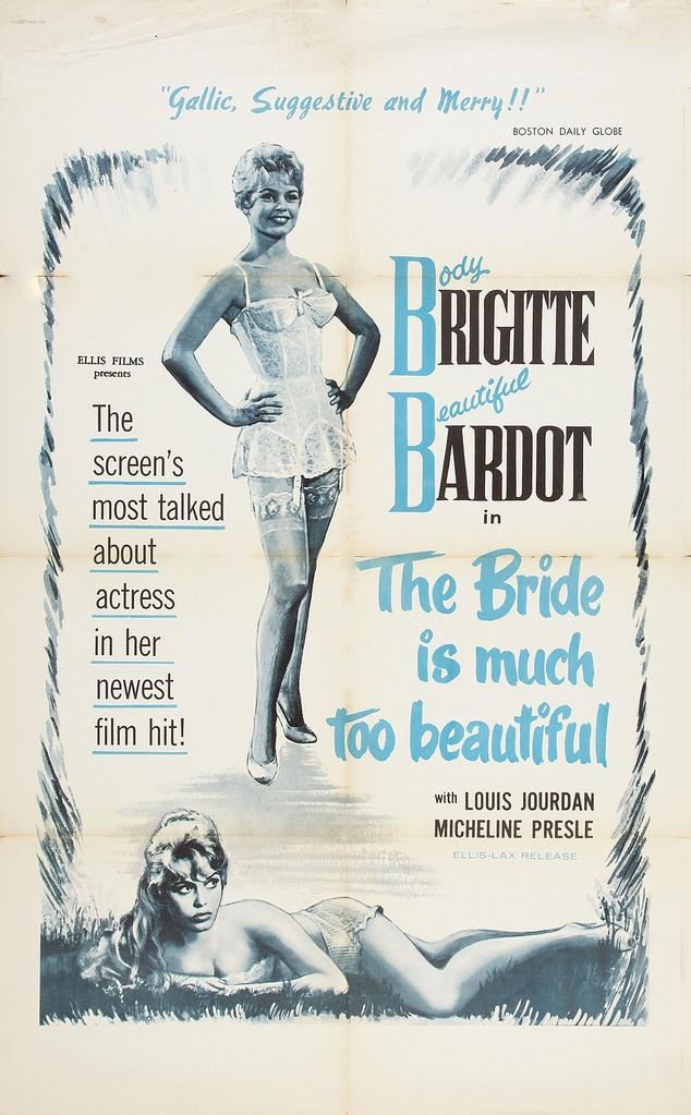 LA MARIEE EST TROP BELLE - BOX OFFICE BRIGITTE BARDOT 1956