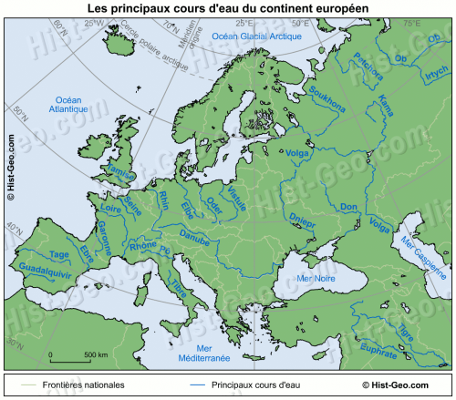 fleuves en Europe