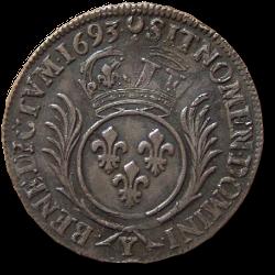 Louis XIV - demi écu 1693