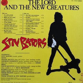 Mémoire de vinyl : (Pour Dado) Stiv Bators - The Lord and the New Creatures (1983)