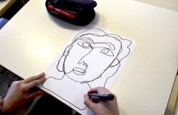 Arts visuels : Visage avec une seule ligne !