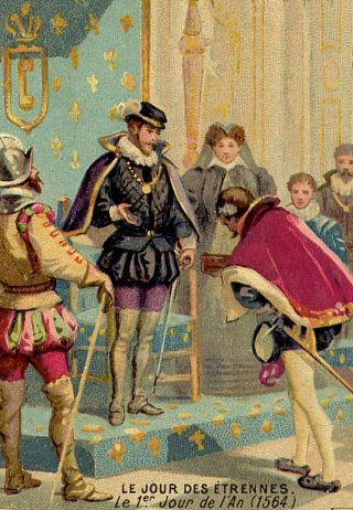 Jour des étrennes. 1er janvier 1564