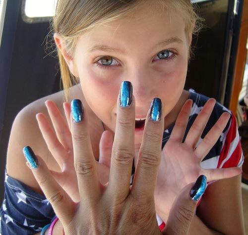 Nail art : Les yeux de ma fille - foil