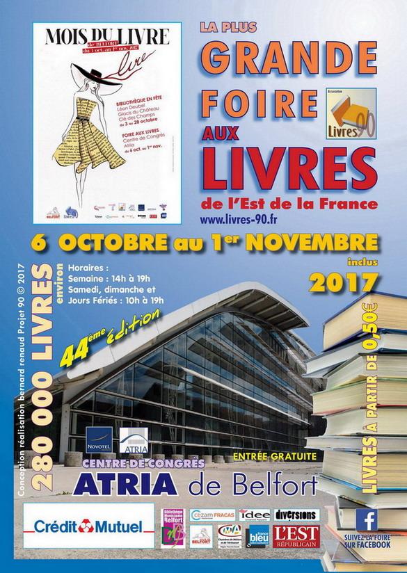 A Belfort, à l'occasion du mois du livre, les 18 et 21/22 octobre 2017