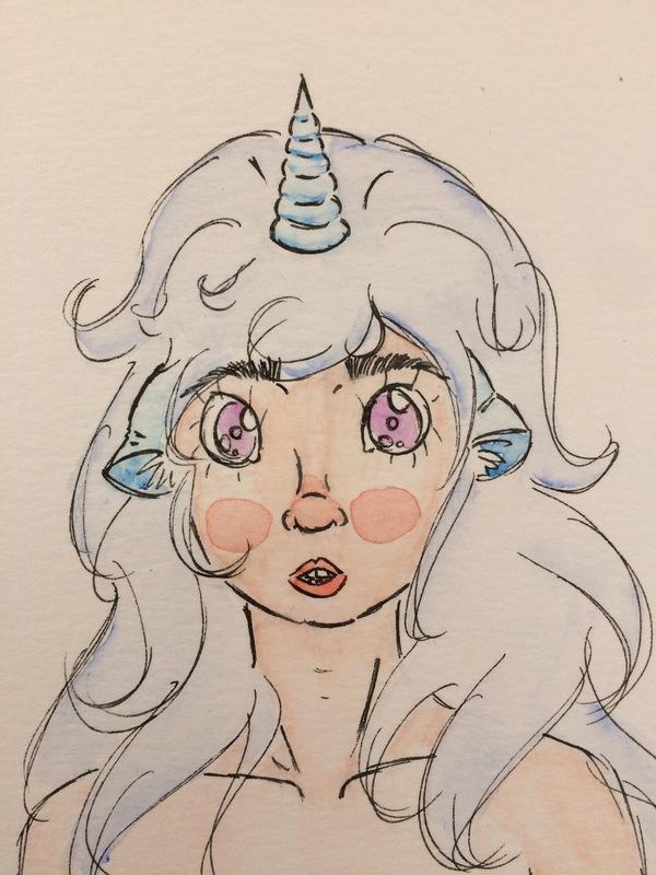 Femme licorne