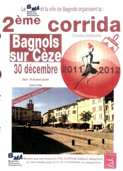 La corrida de noël 2011 à Bagnols sur cèze dans le Gard