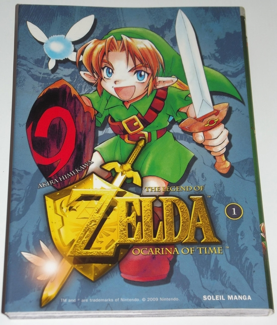 livre Manga Zelda Ocarina of time 01