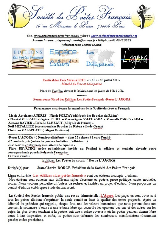 Festival des Voix Vives /Sète