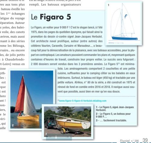 """Un Figaro 5 dans la presse !   """"Kirikou"""" s'affiche dans le n°286 de la revue """"Fluvial"""""""