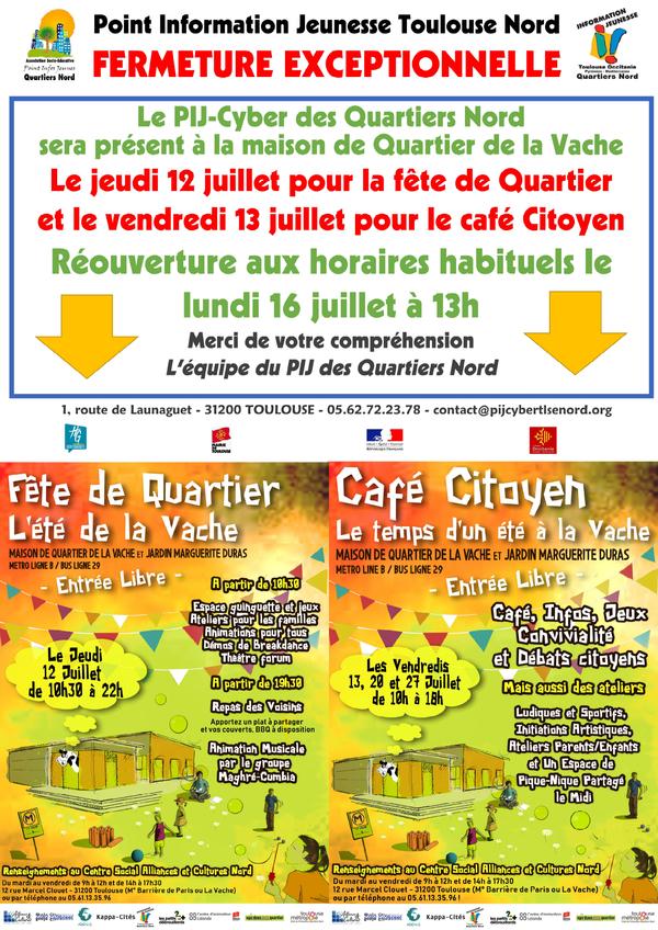 Fête de Quartier et Café Citoyen à la Vache !