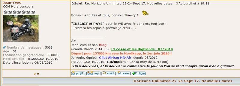 Rassemblement Horizons Unlimited France (HUF) de Sept ) Loupiac 46
