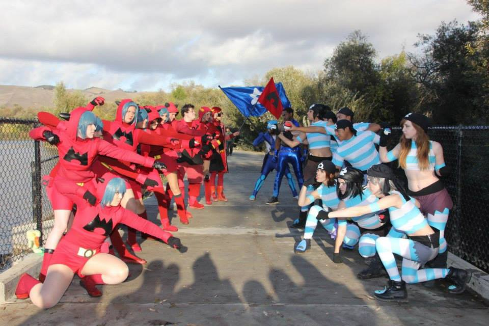 Pokemon team aqua cosplay