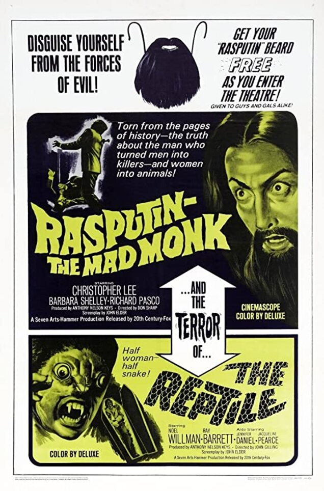 RASPUTIN THE MAD MONK BOX OFFICE USA 1966