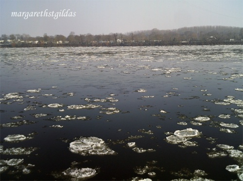 Loire, glace et neige - Loire, drift ice and snow