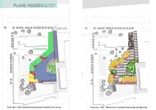 Plans Masses Logements