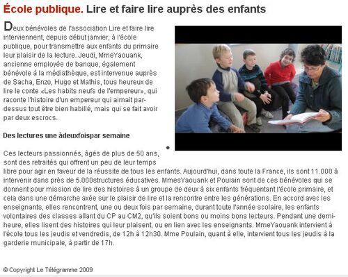 16/010/2012 / Lire et faire lire auprès des enfants