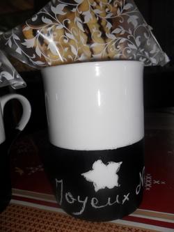 Tasse décorée en cadeau de fête des mères, pères....