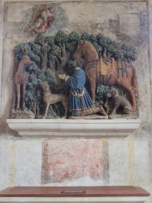 Les Hermites : Eglise : La vision de Saint-Hubert