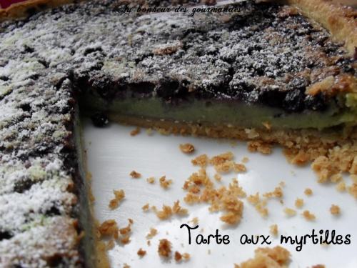 Tartes aux myrtilles et pistaches