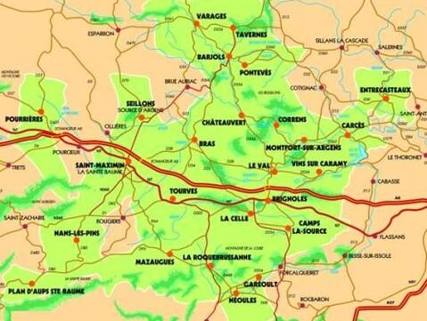 carte Provence vert