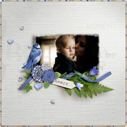 Baby Boy Love by dentelle scrap
