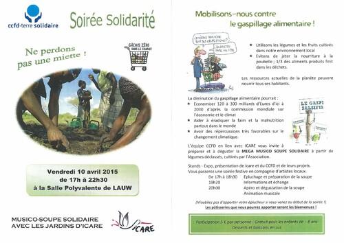 Icare invité d'honneur à la Soirée solidarité du CCFD-Terre Solidaire