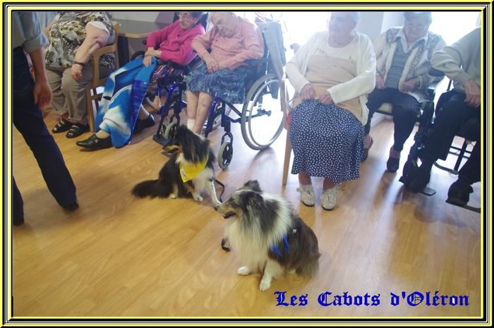Visite à la maison de retraite du Chateau d'Oléron